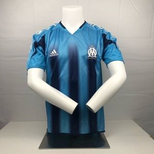 Adidas Navy & Light Blue Marseille Football Jersey